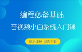 编程必备基础-音视频小白系统入门课【完结】