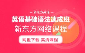 英语基础语法速成班 新东方网络课程  48节