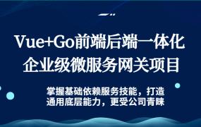 (毕设项目)Vue+Go前端后端一体化 企业级微服务网关项目